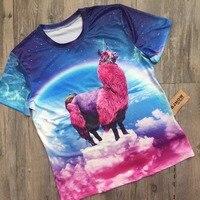 BJHOW T Shirt 3d Rainbow Pegasus Printer Tshirt Printed 2017 Harajuku Style Korean Fashion T Shirt