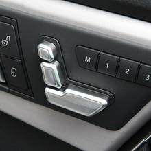 6pcs Chrome Seat Adjust Button Cover Trim For Mercedes Benz W246 W212 218 W146 X204 X156