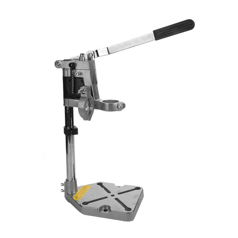 High Quality Aluminum Bench Drill Stand Double Clamp Base Frame Drill Holder Electric Drill Stand Power Rotary Tools Accessories u best high quality ludwig mies van der rohe barcelona bench designer bench in genuine leather