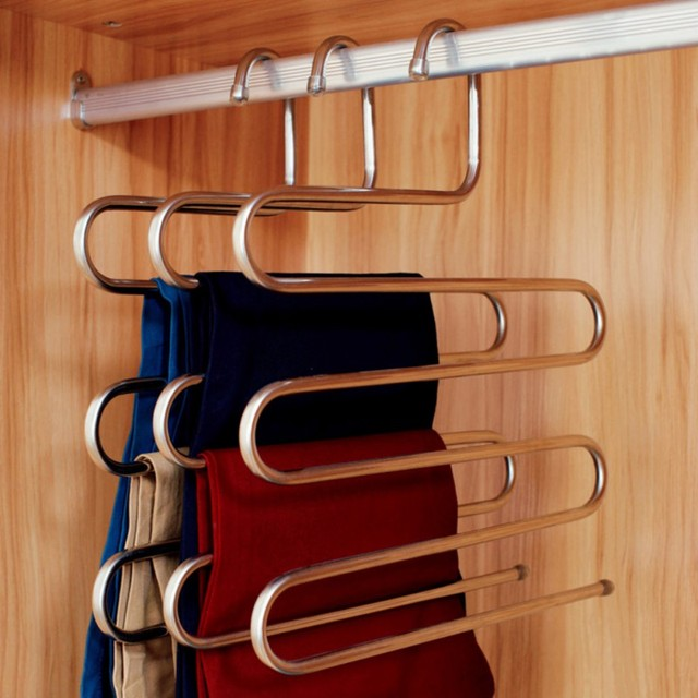 Multi Purpose Hanger S Type Pants Rack Storage Rack Closet Storage Organizer  For Pants