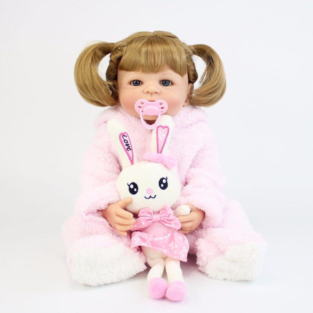 57 см полный Силиконовый виниловый корпус девочка реборн младенцы кукла Bebe Alive реалистичные приманки игрушки подарок на день рождения принц...