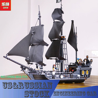 804pcs New LEPIN 16006 Pirates Of The Caribbean The Black Pearl Building Blocks Set Compatible 4184