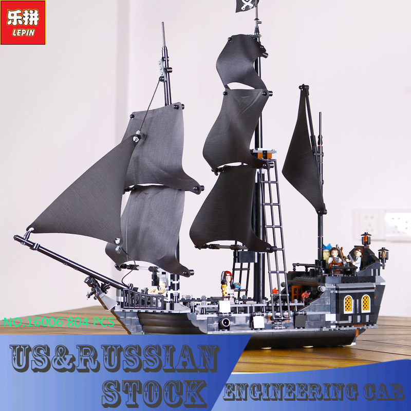 804pcs New LEPIN 16006 Pirates of the Caribbean The Black Pearl Building Blocks Set Compatible 4184 children Gift lepin 16006 804pcs pirates of the caribbean black pearl building blocks bricks set the figures compatible with lifee toys gift