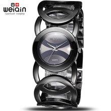 Weiqin lujo cristal a prueba de agua mujeres pulsera relojes Lady cuarzo vestido de moda reloj mujer relogio feminino mujer reloj