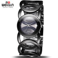 WEIQIN Luxury Waterproof Crystal Women Bracelet Watches Lady Fashion Dress Quartz Watch Clock Woman Relogio Feminino