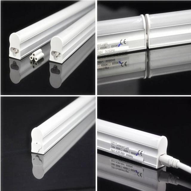 30pcs led t5 tube light 2ft 600mm 8w 2835smd energy saving fluorescent tube replacement ac110v 220v