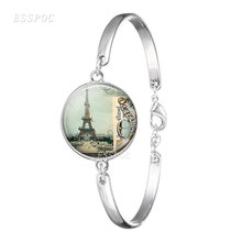 Браслет с Эйфелевой башней Парижа ручной работы Бижутерия со