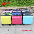 9 colors Fashion Business suitcase ultra-quiet caster board chassis suitcase men women 16-inch PC Trolley Case travel luggage