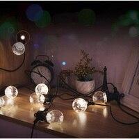 1X Clear Warm White Festoon Led String Light G50 20LED 10M Globe Light Strings EU Plug