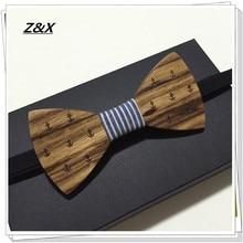 Новое поступление Резьба по дереву Для мужчин с галстуком-бабочкой для вечерние подарок классическая одежда деревянная бабочка Brand Z& X Бизнес костюмы Галстук-бабочка