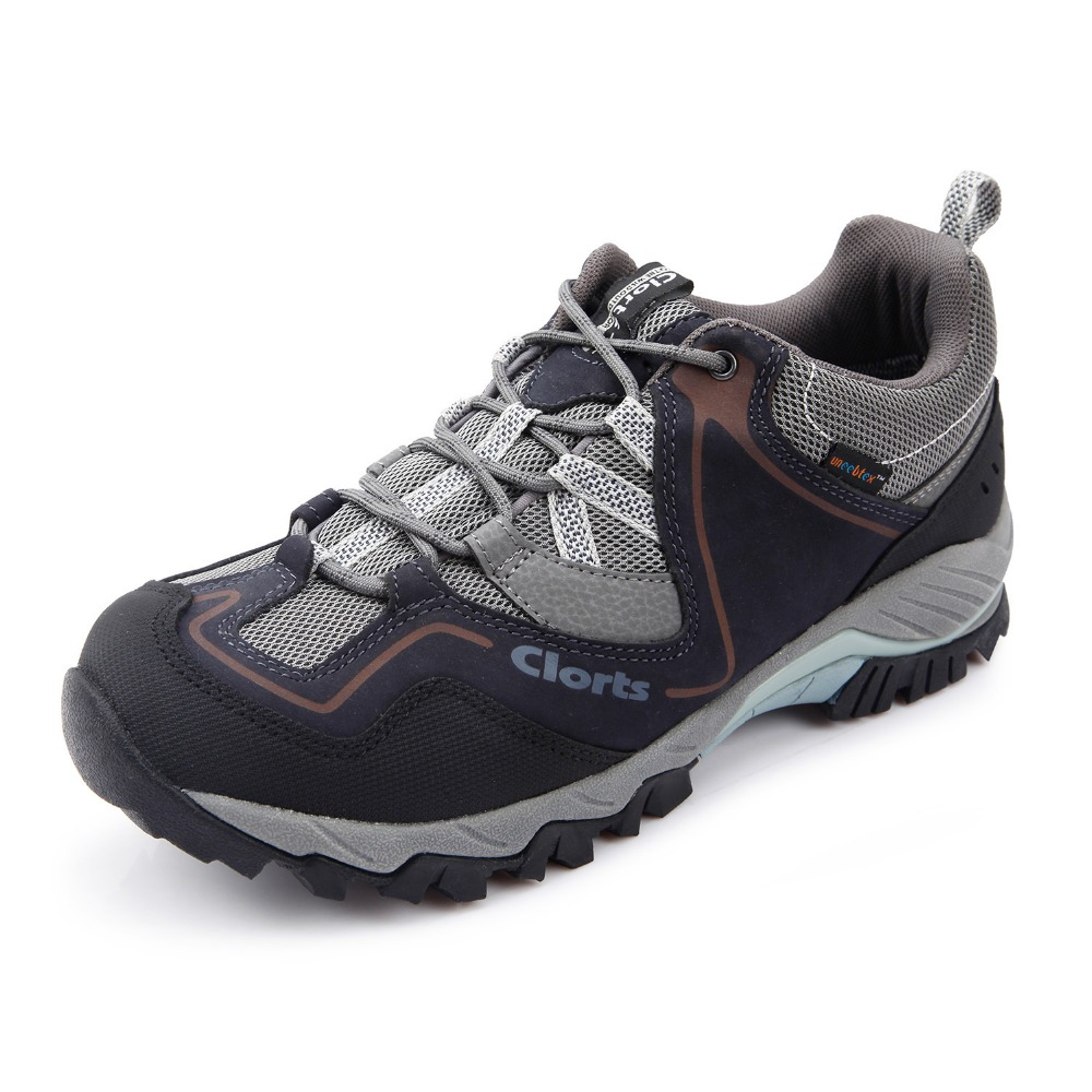 2016 Clorts Men Hiking Shoes HKL-826A/B Genuine Leather Waterproof Outdoor Trekking Shoes Rubber Sport Sneakers 2016 clorts men outdoor shoes nubuck hiking shoes breathable suede trekking shoes athletic sneakers for men hkl 826