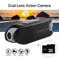 BOBLOV F66 1080P+720P 140 degree Dual Lens Digital Sports Video Action Camera Novatek 96655+32GB Micro Card Free shipping