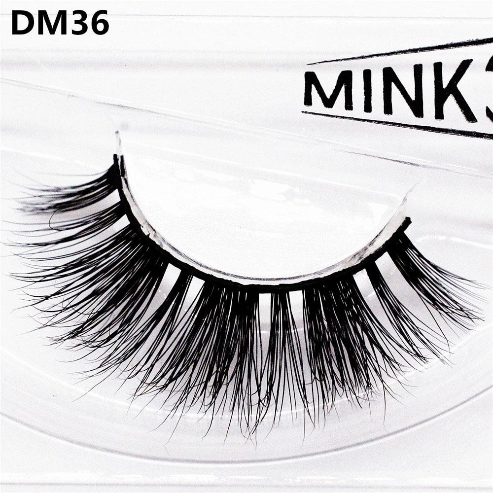 False Eyelashes 3D Mink Hair Hand-made Thick Messy Curling Sexy Natural Long Charming Big Eyes Make-up Extension Tools DM36