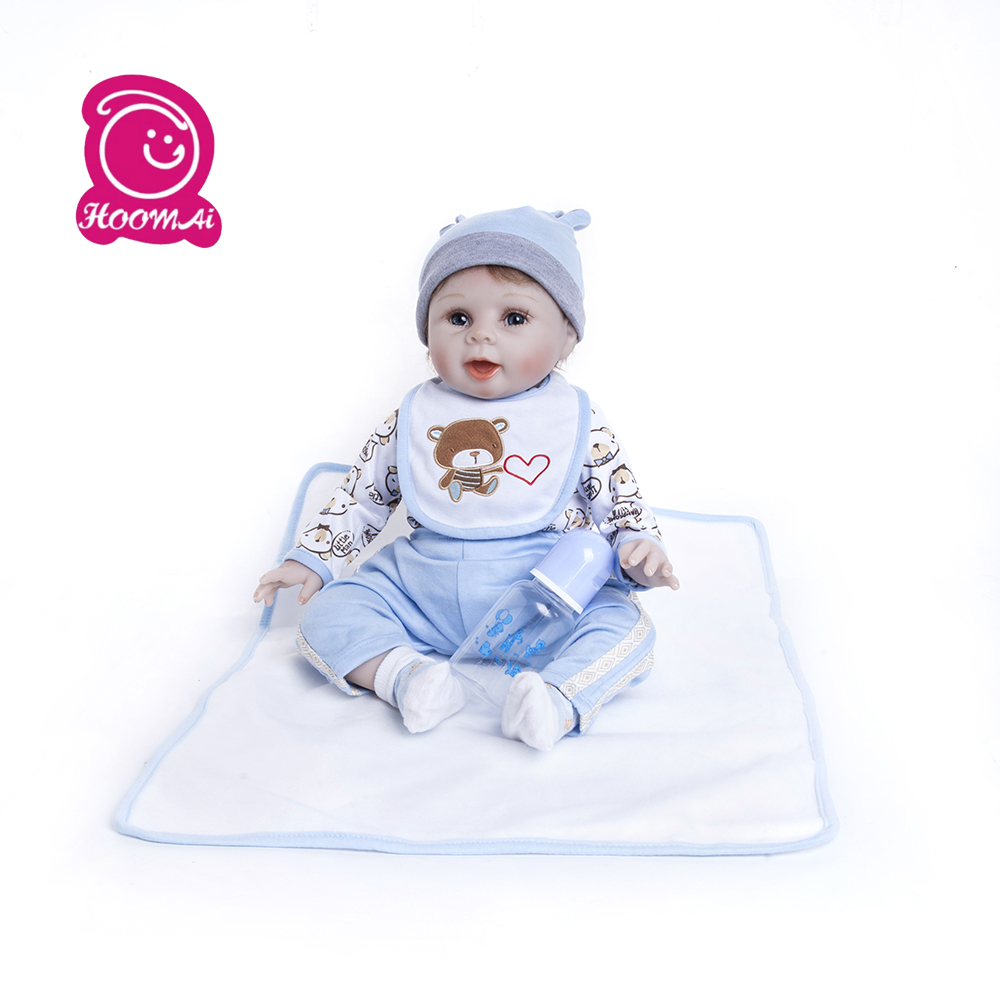 55CM  Cute Funny Smile BeBes Reborn Doll Cotton soft Body Silicone Reborn Baby Dolls Lifelike Newborn child  Birthday  Gift55CM  Cute Funny Smile BeBes Reborn Doll Cotton soft Body Silicone Reborn Baby Dolls Lifelike Newborn child  Birthday  Gift