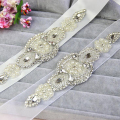 ZXW47 Real Photo Beaded Wedding Bridal Belt Pearls for Women 2016 Wedding Bride Sash Crystals Prom Dress Belt