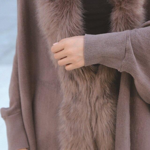 Faux Fur Collar Shawl Cardigan Tassel Winter Warm Coat 5