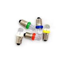 5 teile/los Niedrigen Power Verbrauch E10 LED Schraube Basis Anzeige Birne Kalt Weiß 6V/12V/24V DC Glühbirne Top Qualität