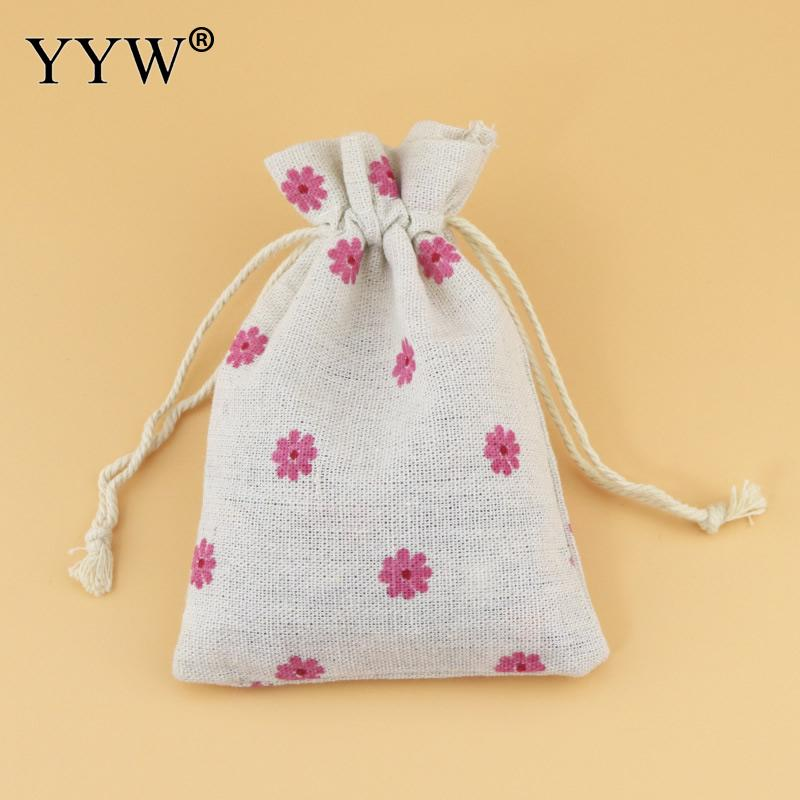 YYW 2017 Jewelry Bags Lovely Pouches Cotton Fabric Bags Christmas Gift Bags Candy Jewelry Packaging Organza Bags Pouches