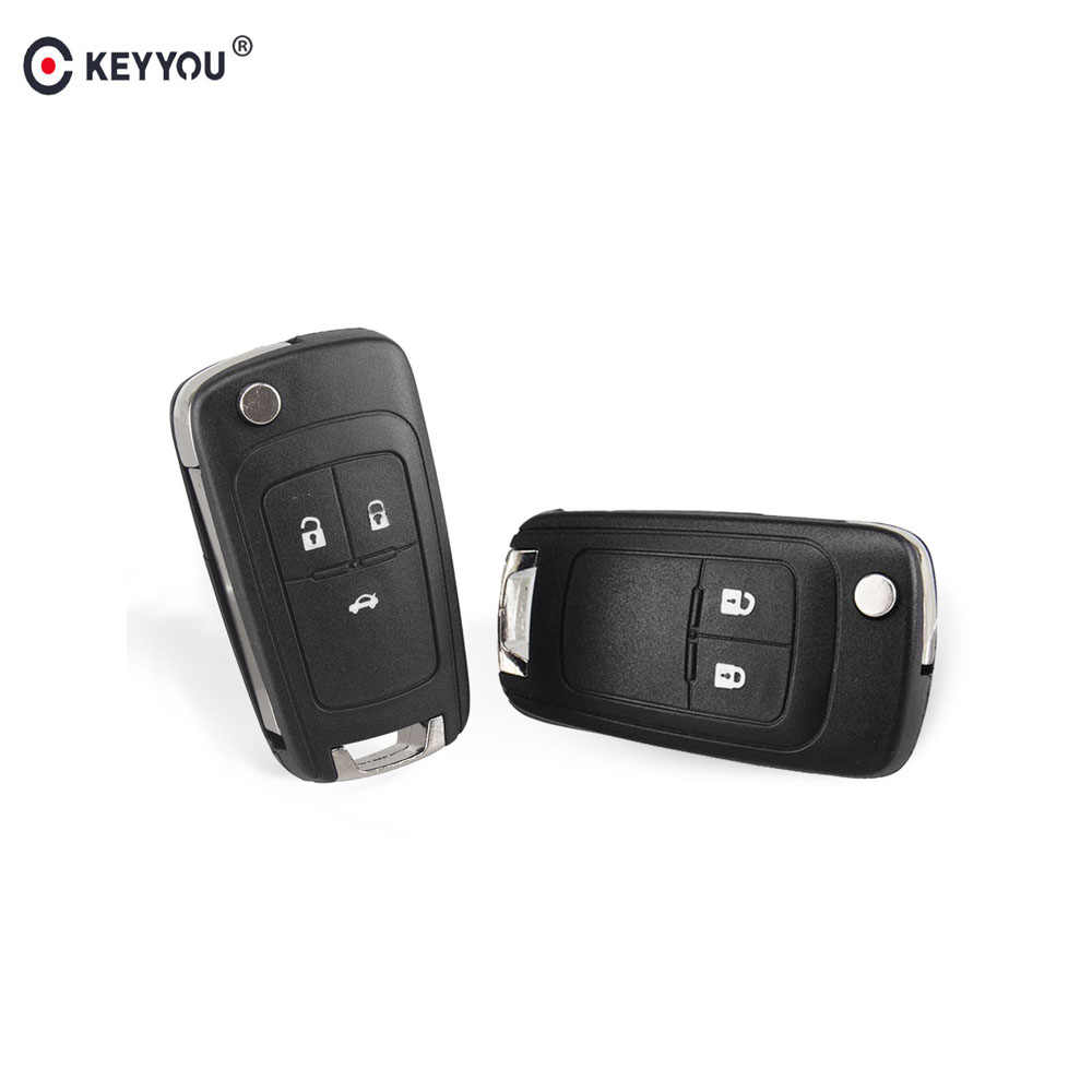 KEYYOU 2 3 Knoppen Flip Folding Remote Key Case Voor Opel Vauxhall Corsa Astra Vectra Zafira Omega HU100 Ongesneden Blade