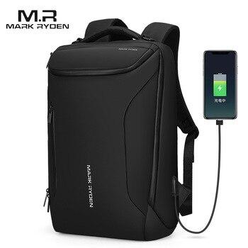 Mark Ryden 2019 New Anti-Thief Fashion Men Backpack Multifunctional Waterproof 15.6 inch Laptop Bag Man USB Travel Charging Bag