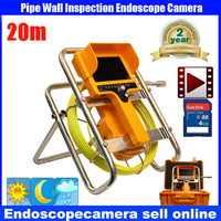 20m Cable Fiber Glass 7 TFT LCD Waterproof Pipe Sewer Inspection Camera Color 1 3 CCD600TVL