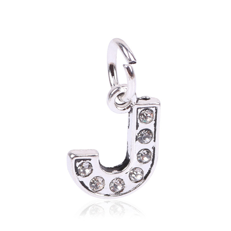 Letter A to Z Pendant Free Shipping 925 Silver European Beads Fits Pandora Charms Bracelets & Pendants DIY Jewelry Women Gift