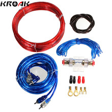 1500W Car Complete 10 Gauge Amp Power Subwoofer Amplifier Audio Wire Cable Speaker Sub Wiring with Fuse Holder