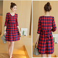 Maternity Autumn Dress Cotton Plaid Fashion High Quality Maternity Clothes For Pregnant Women Dress Nursing Pregnancy Clothing