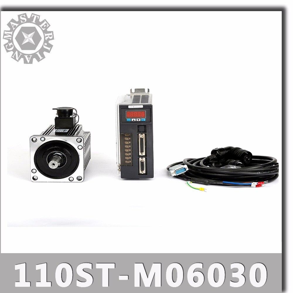 110ST M06030 220V 1 8KW AC Servo motor 3000RPM 6N M servomotor Single Phase ac drive