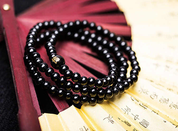 Charming Luxury  Sandalwood Beads Rope Bracelet Buddhist Buddha Meditation 6mm 108 Prayer Color Black Red