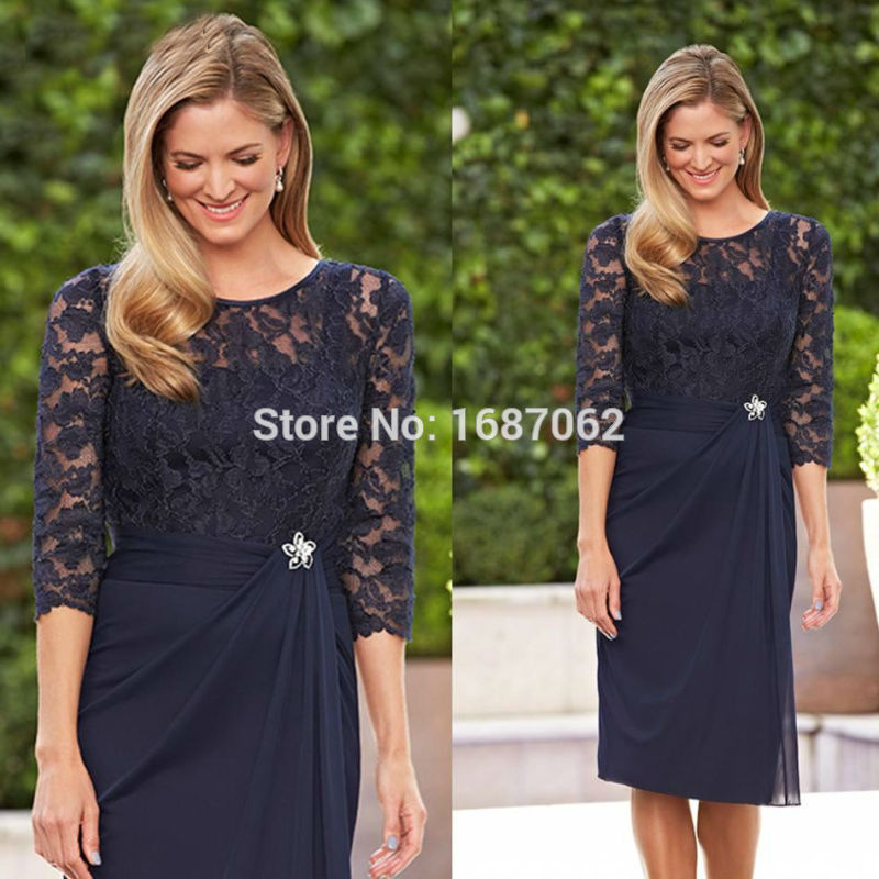 Lace Mother of Groom Dress