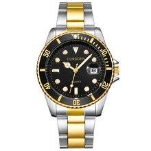 KINYUED мужские часы лучший бренд класса люкс деловые часы сплошной стальной ремень Ман Спорт Submariner серии часы Relogio Masculino