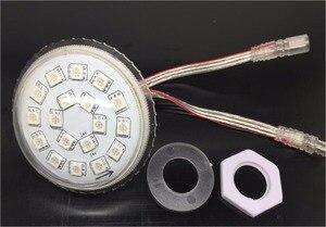 Image 2 - 60mm durchmesser; DC24V; UCS1903 adressierbare RGB vollfarb led smart module; 4,32 Watt (18 stücke von 5050 SMD LED); IP68; klar oder milchig abdeckung