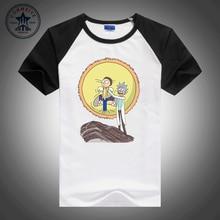 2017 hot sale fashion clothes Cartoon Science Tiny Rick and Morty  Design  funny men shirt short sleeve t shirt