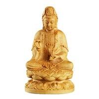 14cm buddha statue wood figurines craft sculpture home Decoration buda carving Buddhism decor decoracion