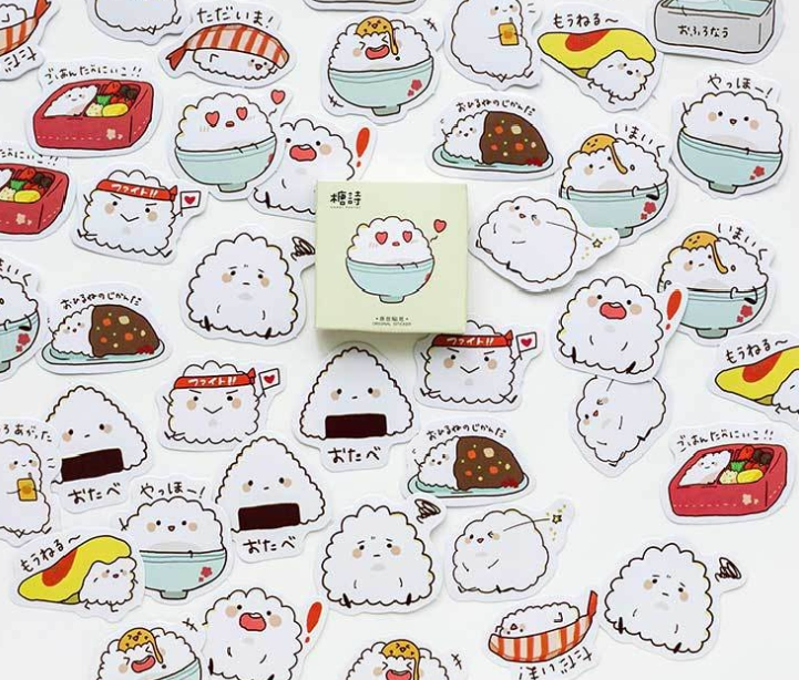 Little Rice Diy Decorative Stationary Sticker(1pack)