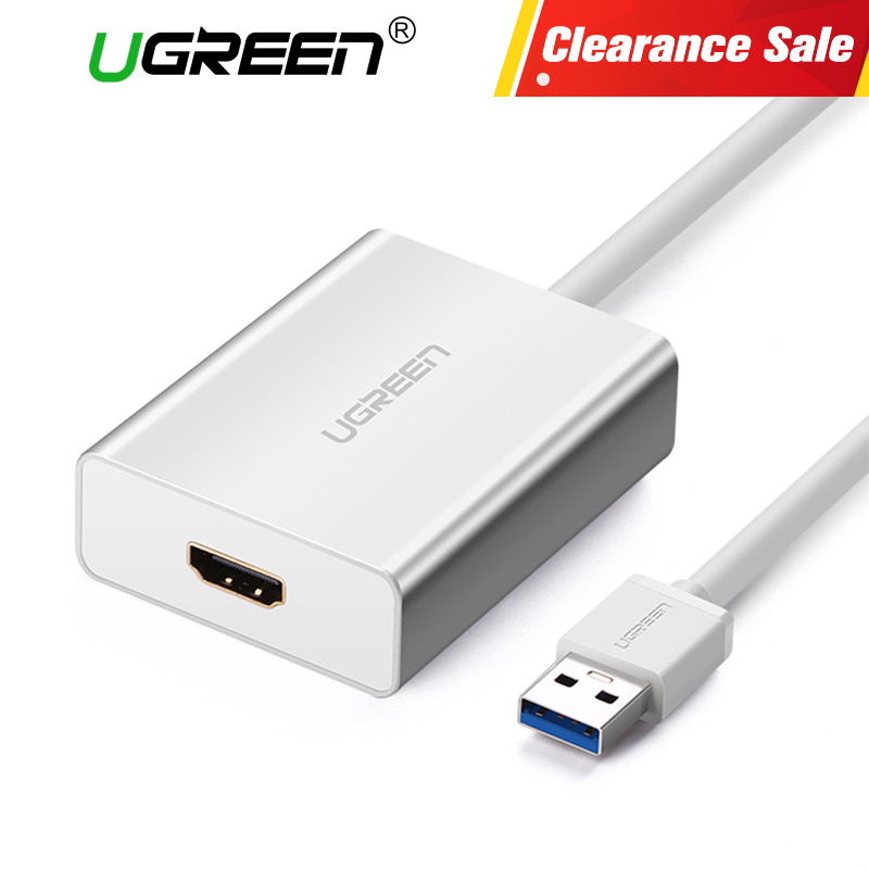 Ugreen USB HDMI VGA DVI Adapter External USB to HDMI Multi-Display Adapter Male to Female Projector Connector Converter USB HDMI ugreen multi all in 1 usb 3 0 to hdmi dvi vga video