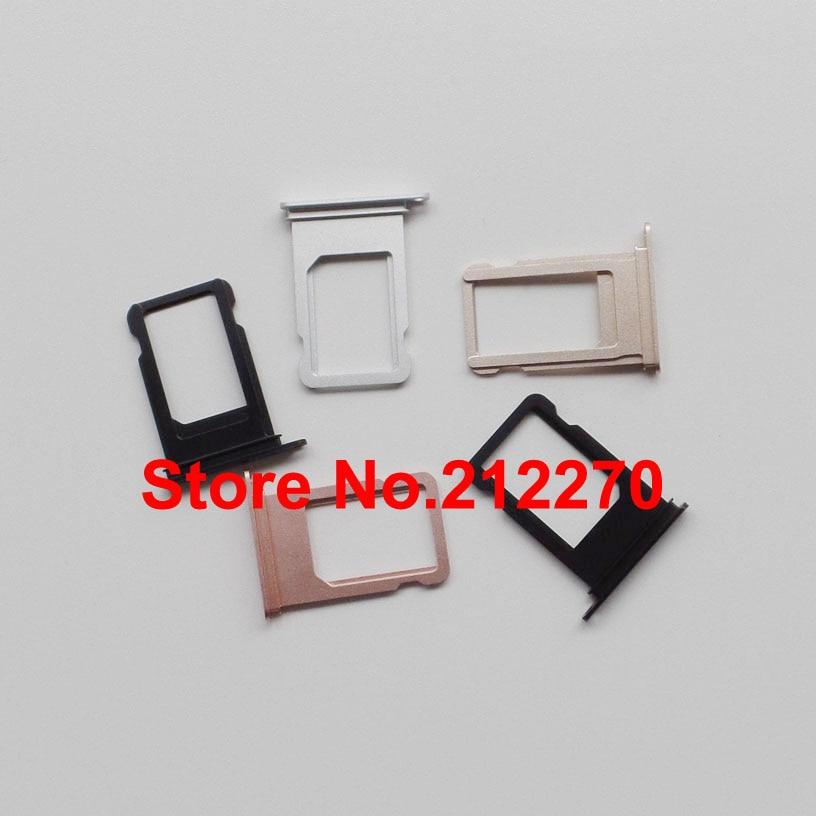 imágenes para 100 unids/lote original nuevo nano bandeja de tarjeta sim sostenedor de la ranura de las piezas de repuesto para iphone 7 al por mayor