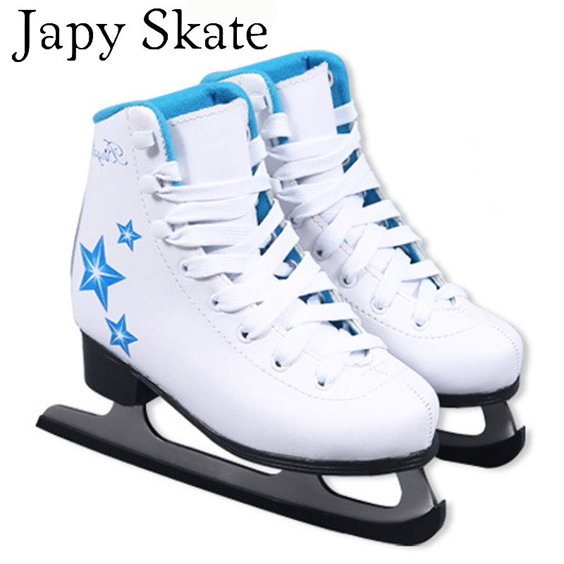 Japy Skate Ice Skate Tricks Shoes Adult Child PU Ice Skates Professional Flower Knife Ice Hockey