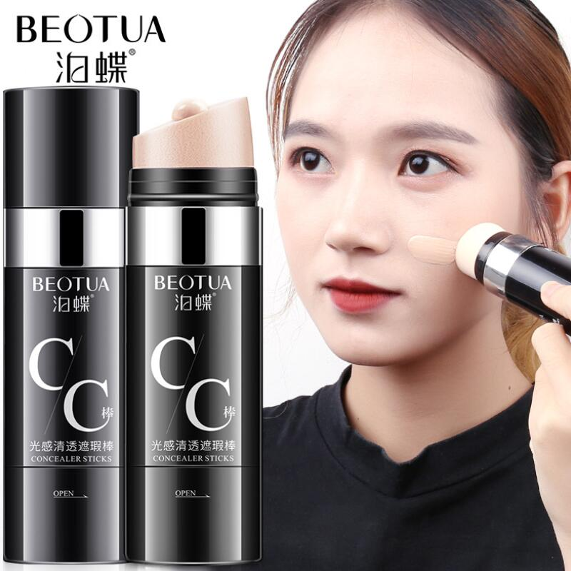 Makeup Concealer Face CC Stick Light Natural Brighten Skin BB Cream Long Lasting CC Bar Korean Cosmetics