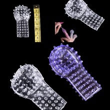Silicone Finger Penis Sleeve Massager Extension Spiny Stretchy Clitoris G spot Stimulator Party Erotic Toy Sex Products For Male