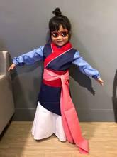 Principessa Mulan Vestito Cosplay Vestito di Halloween Del Partito Della  Fase del Costume Del Regalo di Bambini Che Coprono Le R.. 82e6879ce49
