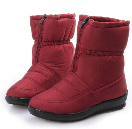 Eur 36-42 Big yards us 11 Winter Classic Tall Snow Boots Rabbit hair female boots Waterproof  boots Fashion Mother's warm shoes