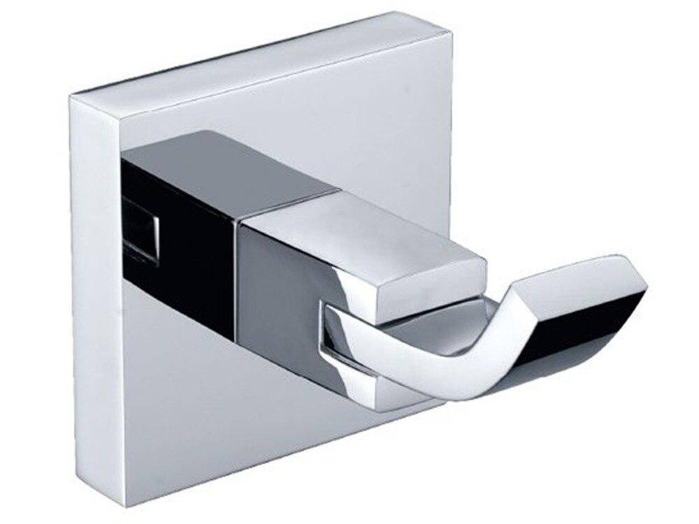 chrome square bathroom accessories chrome square bathroom accessories 138g solid brass finish towel robe hook