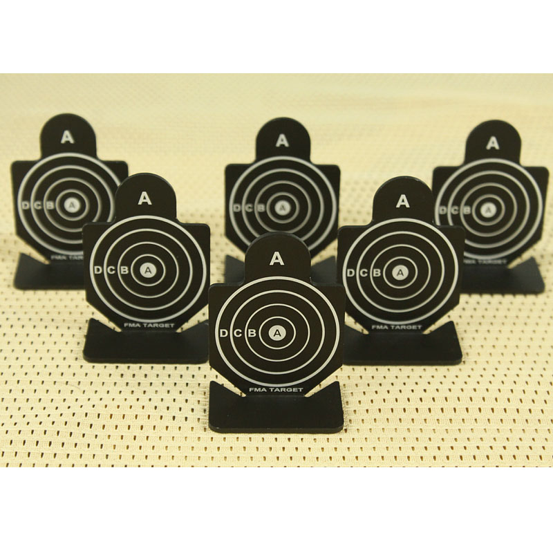 6 Pcs /pack Tactical Airsoft Shooting Metal Target Set shooting Target Practice Accessories