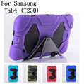 New style original quality Hard Silicone Rubber Case Cover For Samsung galaxy Tab4 T230 Tablet Rugged Protective,SKU 0114BCN