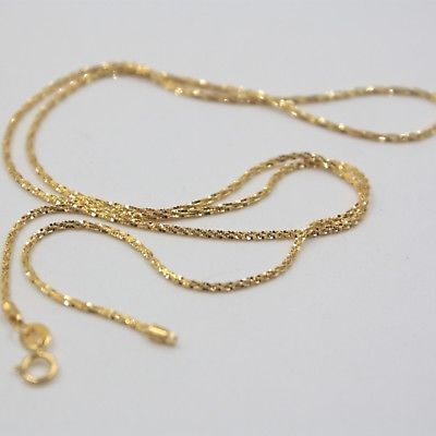New Real Au750 18K Yellow Gold Chain Women Full Star Link Necklace 2-2.5g 1
