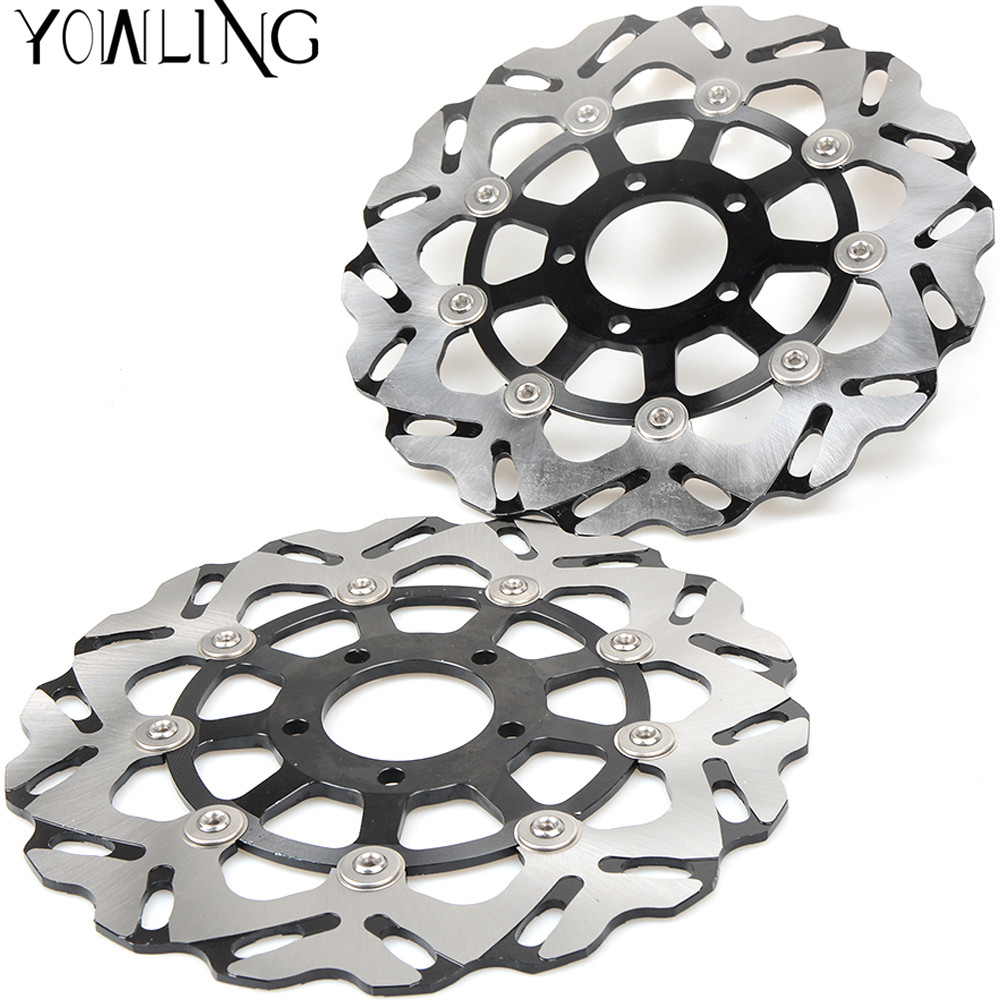 One Pair CNC High quality Motorcycle Front Floating Brake Disc Rotor for Suzuki M1800R M1800 R 2006 2007 2008 2009 K6 K7 K8 one pair cnc high quality motorcycle front floating brake disc rotor for suzuki gsf1250 bandit abs non 2007 2008 2009 gsf1200 k6