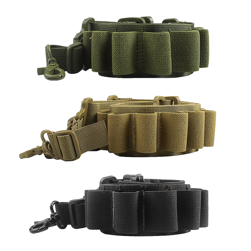Tactical  Shotgun Two Points Sling Strap Adjustable Hunting Rope Strap Metal Hooks Caliber 15 for Outdoor Airsoft RL30-0005