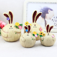 ANZULWANG 2Pcs Fat Rabbit Resin Crafts Craft Decoration Creative Gifts Car Ornaments Decoration Garlic Rabbit Car Interior Set